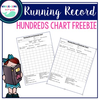 Running Record Hundreds Chart By WhaleCome To Nd Grade  Tpt