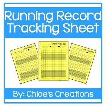 Running Record Recording Sheet