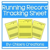 Running Record Recording Sheet
