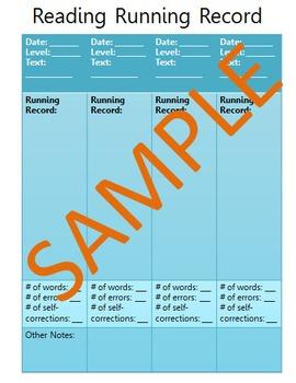 Running Record Sheet