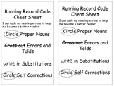 Running Record Student Cheat Sheet