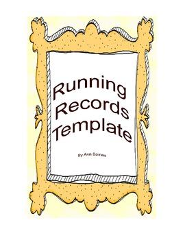 Running Record Template Grades 3-6