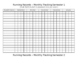 Running Record Tracking Form - Year Long