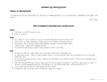 Running Record Workshop Handout