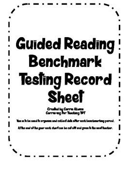Running Record/Benchmark Testing Record Sheet
