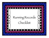 Running Records Checklist