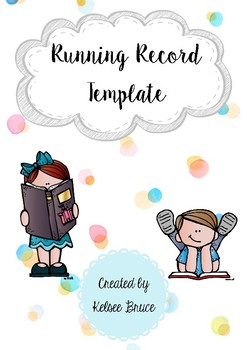 Running Records Log Template
