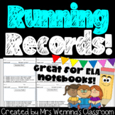 Primary Running Record Templates!