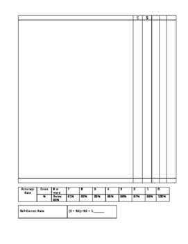 Running Records Template