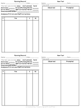 Running Records for Guided Reading