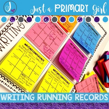 Running Records for Writing and Reading - Sticky Note Vers