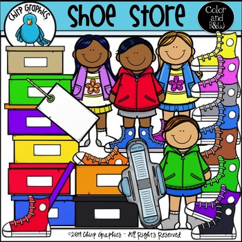 Running Shoe Store Clip Art Set - Chirp Graphics