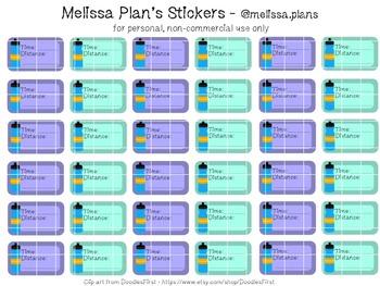 Running Tracker Stickers