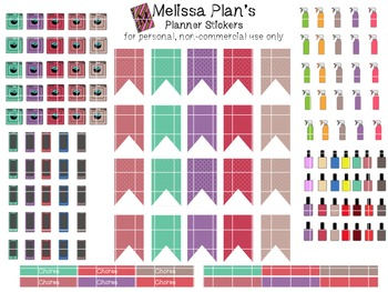 Household Symbols Planner Stickers