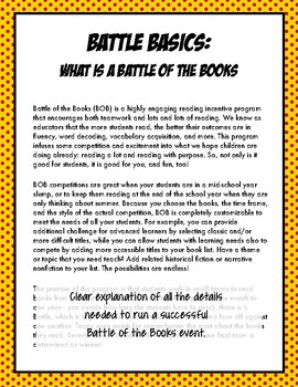 Running a Battle of the Books Competition