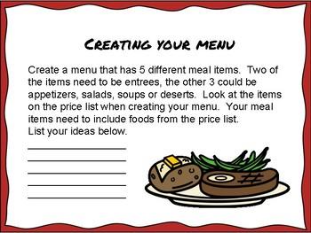 Running a Restaurant a Math PBL Project