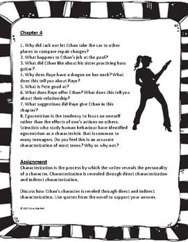 Running on Empty Unit Questions - Novel Study