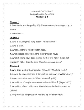 Running out of Time: by Margaret Peterson Haddix - Comprehension Questions