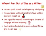 Running out of gas a writer