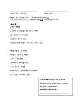 Running records for Spanish Reading