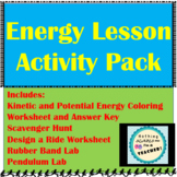 Kinetic and Potential Energy Bundle Including 5 Labs and Activities