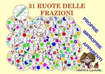 Ruote delle frazioni - Set completo (Franction Spinners)
