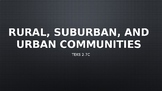 Rural, Suburban, and Urban Communities Powerpoint for Soci
