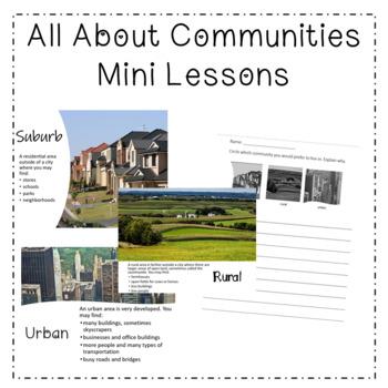 Rural, Urban, Suburb Communities Mini Games - 3rd Grade So