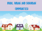 Rural, Urban, and Suburban Activities AND Powerpoint