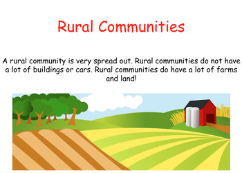 Rural, Urban, and Suburban Communities Powerpoint