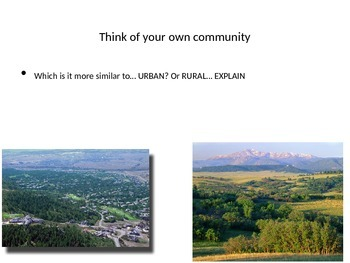 Rural Vs. Urban and Industrialization: Human Geography