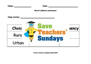 Rural or urban / Town or country survey Lesson plan and Worksheets