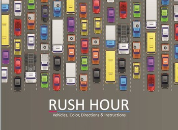 Rush Hour ESL EFL directions color instructions lesson board game