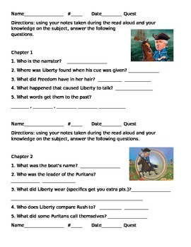 Rush Revere Quest/ Chapter Quiz