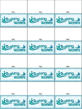 Rushing Waters Math Game for any math fact / problem
