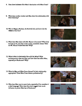Rushmore Film (1998) Study Guide Movie Packet