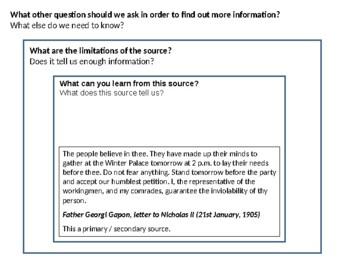 Russia 1905 Revolution Source Analysis Activity
