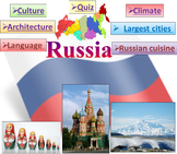Russia PowerPoint presentation  PDF Quiz distance learning