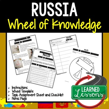 Russia Activity, Wheel of Knowledge (Interactive Notebook)