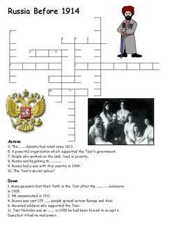 Russia Before 1914 Crossword