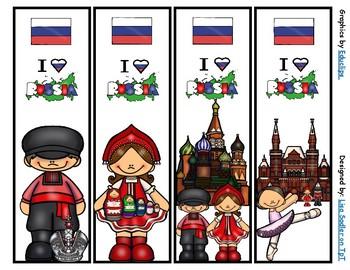 Russia Bookmarks -  4 Designs