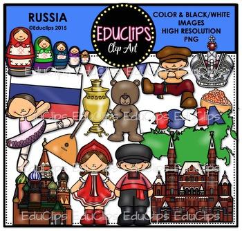 Russia Clip Art Bundle {Educlips Clipart}