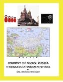 Russia: Country in Focus:Webquest/Activities