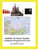 Russia: Country in Focus:Webquest/Activities (Distance Learning)