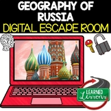 Russia Geography Digital Escape Room, Breakout Room, Test
