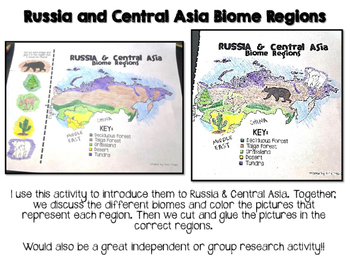 Russia Central Asia Biome And Geography Hunt By Teel S Treats Tpt