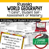 Russia Geography I Cans, Self-Assessment of Mastery, Russi
