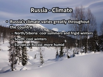 Russia PowerPoint - Geography, History, Government, Culture, and More