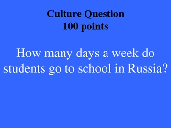 Russia History Jeopardy