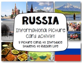 Russia Informational Picture Card Activity: Communities of